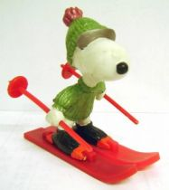 Snoopy - Schleich PVC Figure - Skier Snoopy (Green version)