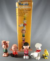 Snoopy & the Peanuts - 1979 Determined Production PVC Figures set : Charlie Brown, Lucy, Peppermint Patty, Woodstock, Snoopy