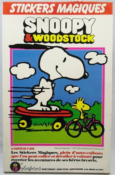 Snoopy & Woodstock - Stickers magiques Colorforms