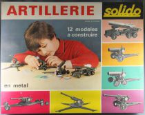 Solido Ref 409B Artillery B Deluxe Set Canon Field Gun Howitzer 12 Models to Assemble