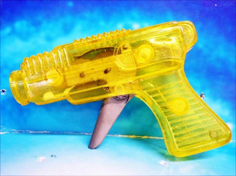 Space Gun - Sparkling Toy - Transparent Gun (Yellow)
