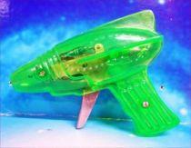 Space Gun - Sparkling Toy - Transparent Ray Gun (Green)