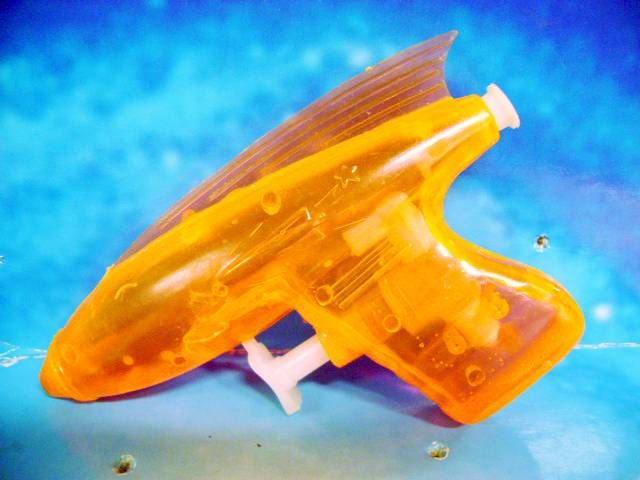 Space Gun - Water Gun - Orange Transparent Space Gun