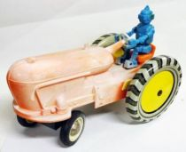 Space Toys - Battery Toy - Space Tractor with Robot Driver (Russia 1960\'s)