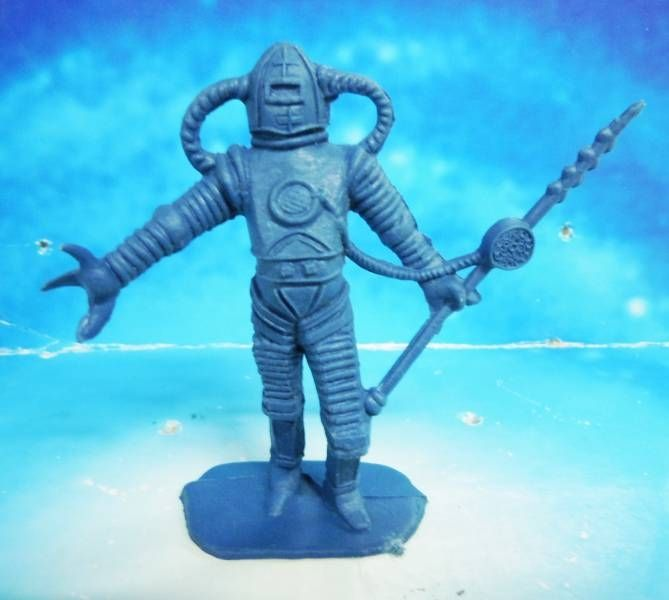 Space Toys - Comansi Figurines Plastiques - Alien #5 (bleu)