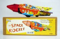 Space Toys - Fusée à friction & Etincelante en Tôle - Space Rocket (Tin Treasures)