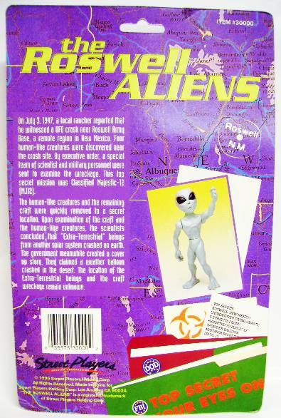 Space Toys - Plastic Figures - Roswell Aliens (Street Players)
