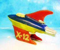 Space Toys - Plastic Figures - Space Rocket X-12 (Red, Blue, Yellow)