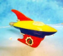 Space Toys - Plastic Figures - Space Rocket X-12 (Red, Yellow, Blue)