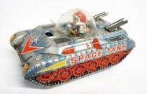 Space Toys - Takatoku Véhicule à remonter en tôle - Space Tank (Japon 1960\'s)