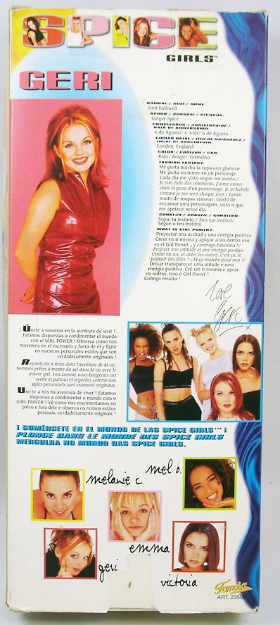 "Spice Girls - Geri Halliwell \""Ginger Spice\"" fashion doll - Galoob Famosa"