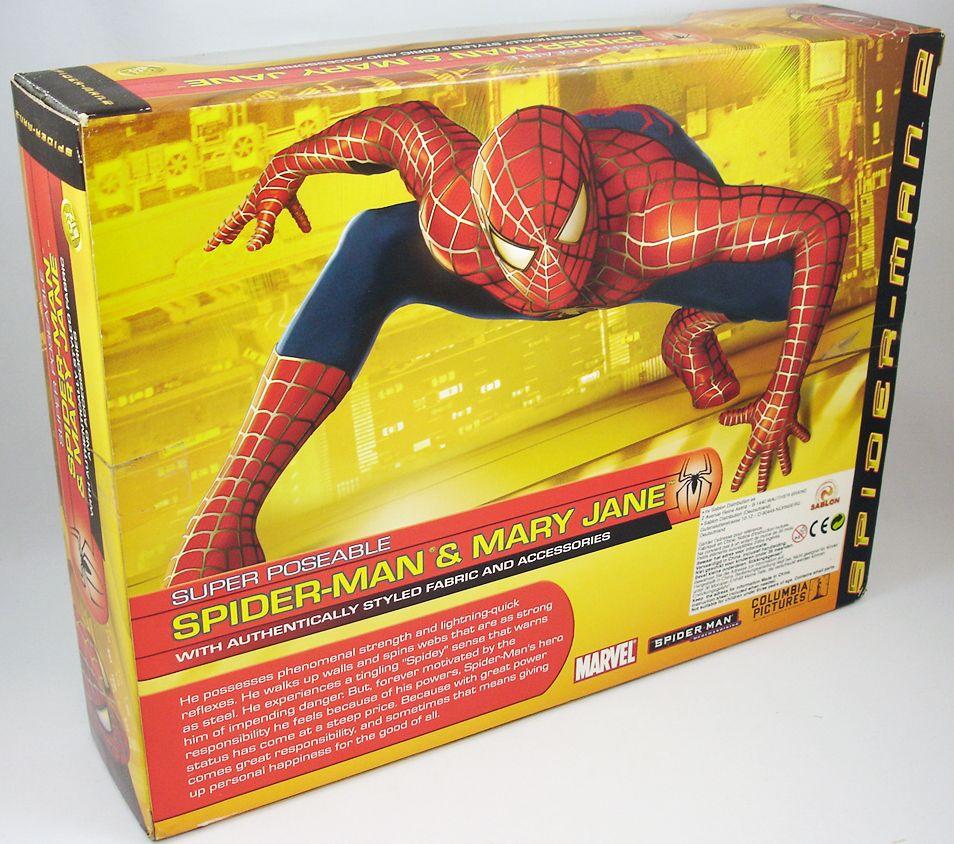spider_man_2_film_2004___figurines_30cm_peter_parker___mary_jane___toy_biz__2_