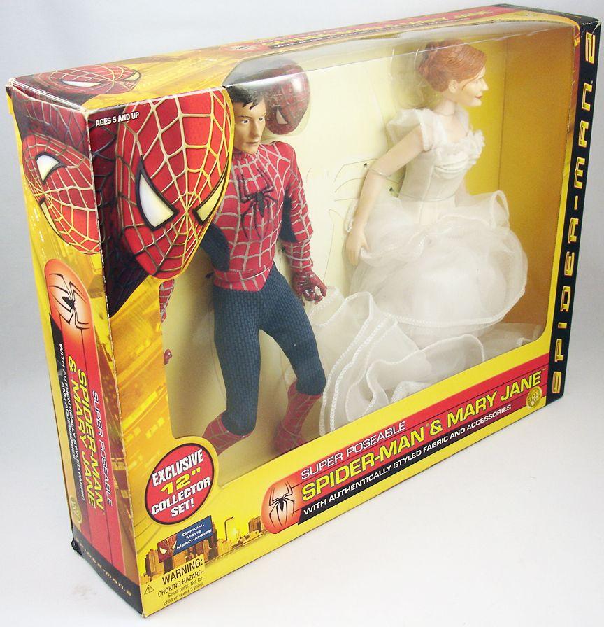 spider_man_2_film_2004___figurines_30cm_peter_parker___mary_jane___toy_biz__1_