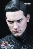"""Spider-Man 3 - Black costume Spidey (Tobey Maguire) 12\"""" figure with Sandman diorama - Hot Toys Sideshow MMS165"""