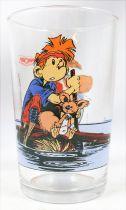 Spirou - Amora Mustard glass - Spirou & Spip on raft
