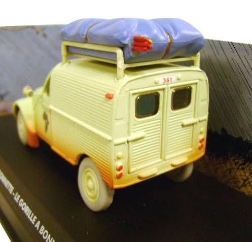 Spirou - Atlas Edtions Vehicle - Light Van Citroën 2CV from Gorilla\\\'s in Good Shape (Mint in box)