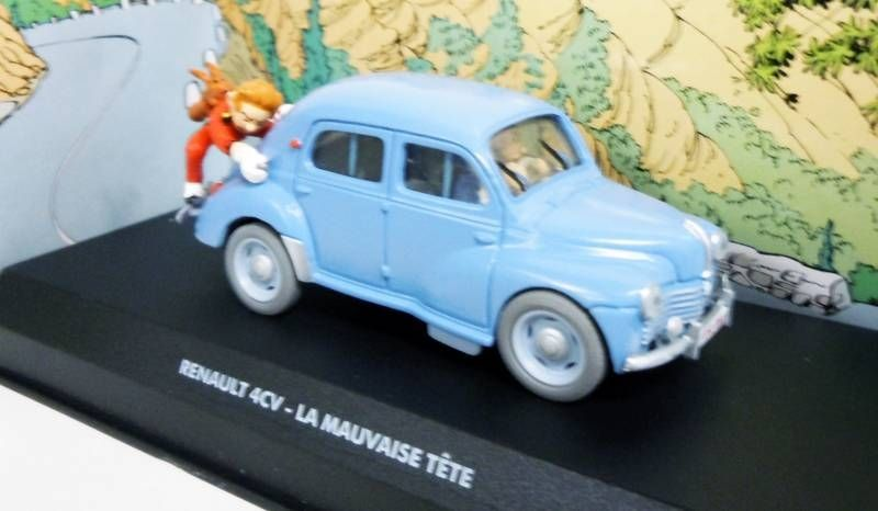 Spirou - Atlas Edtions Vehicle - Renault 4CV from Bad Head (Mint in box)
