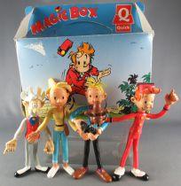 Spirou - Quick Bendable Figures - Spirou Spip Fantasio Seccotine Comte de Champignac & Magic Box