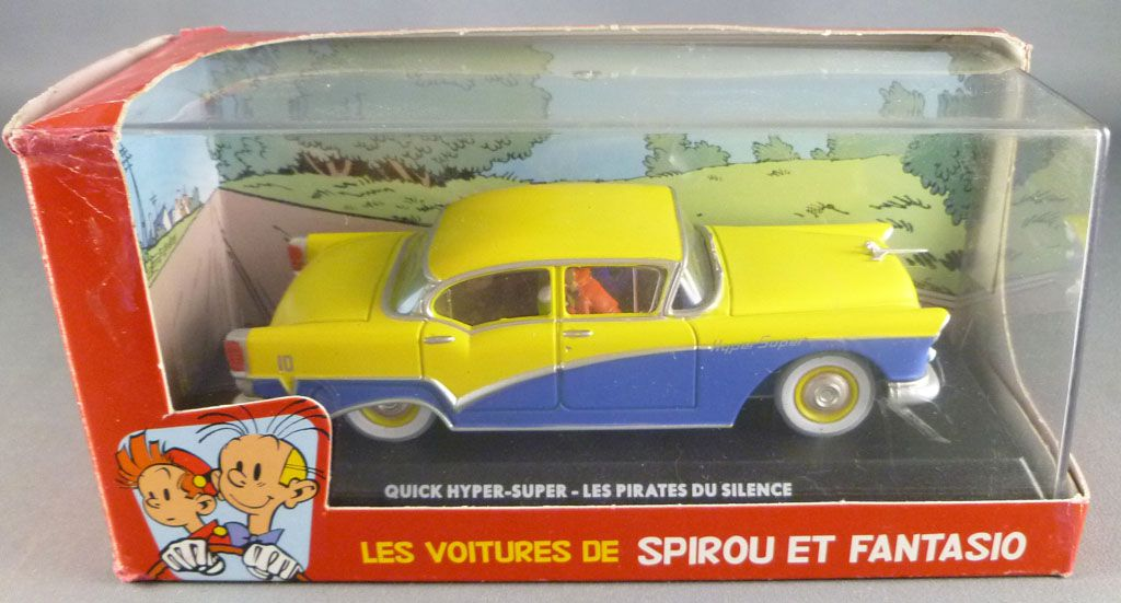 Spirou - Véhicule Editions Atlas - La Quick Hyper-Super des Pirates du Silence (neuve en boite)