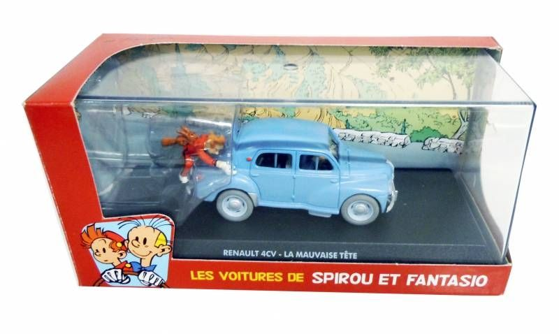 Spirou - Véhicule Editions Atlas - La Renault 4CV - La mauvaise tête (neuve en boite)
