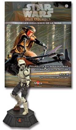 Star Wars - Jeux d\'Echec Altaya - #10 Scout Trooper - Pion noir