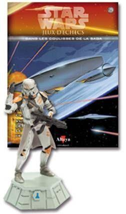 Star Wars - Jeux d\'Echec Altaya - #25 Airbone Trooper - Pion blanc