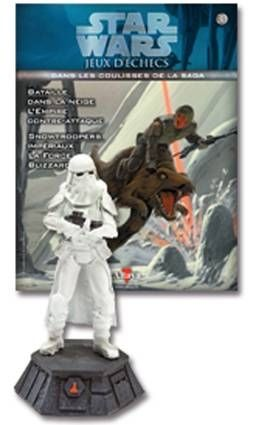 Star Wars - Jeux d\'Echec Altaya - #30 Stormtrooper de Hoth - Pion noir