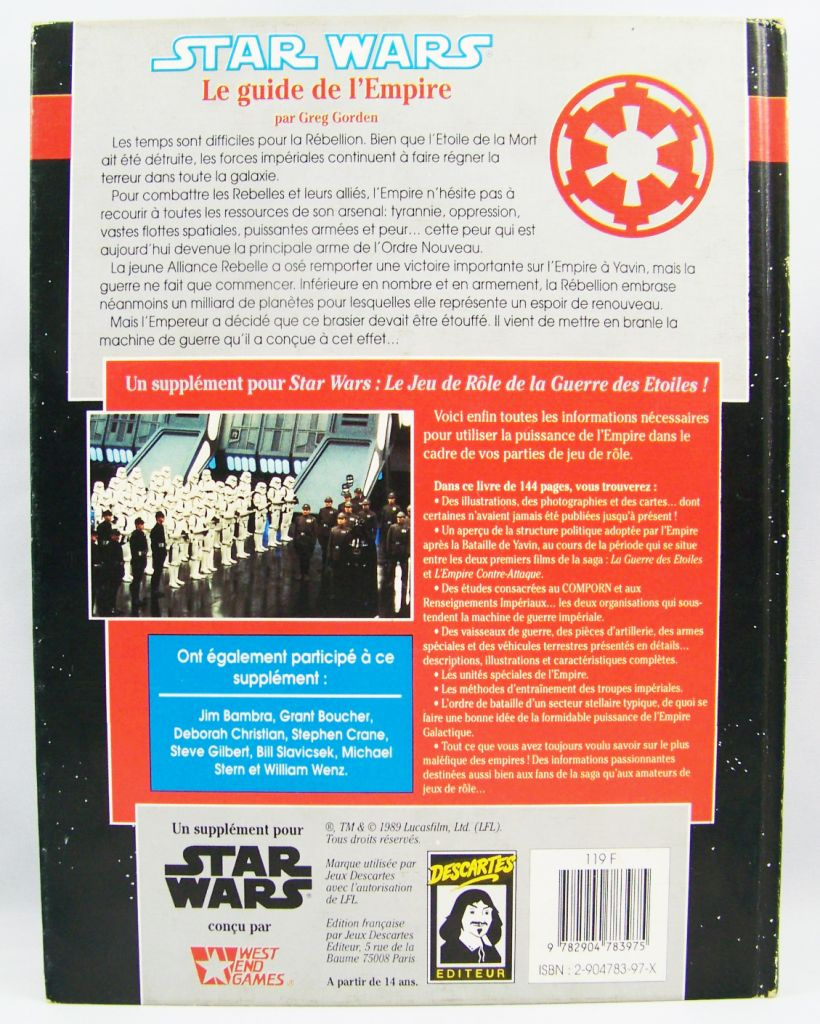 Star Wars - Jeux Descartes & West & Games - Le Guide de l\'Empire 03