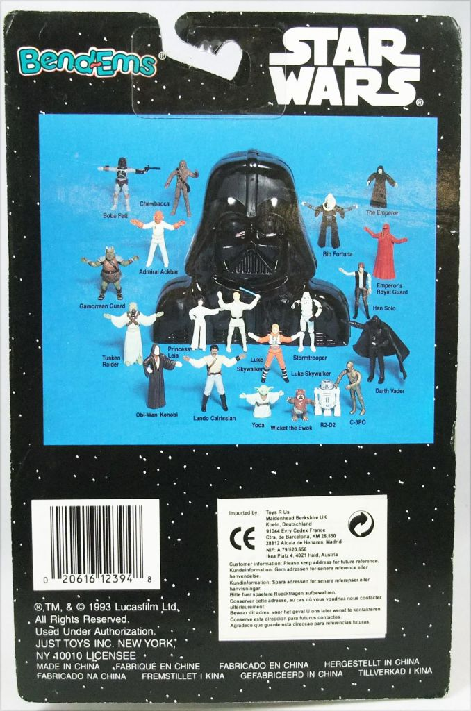 Star Wars (Bend-Ems) - JusToys Bendable Figure (1993) - R2-D2