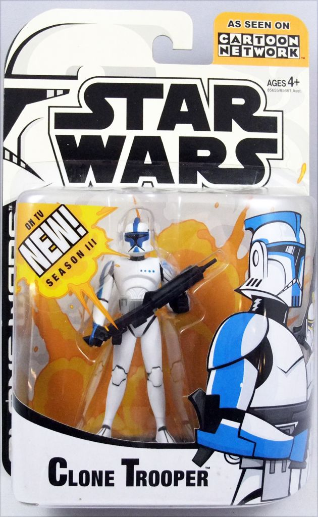 Star Wars Cartoon Network Clone Wars Hasbro Clone Trooper Blue