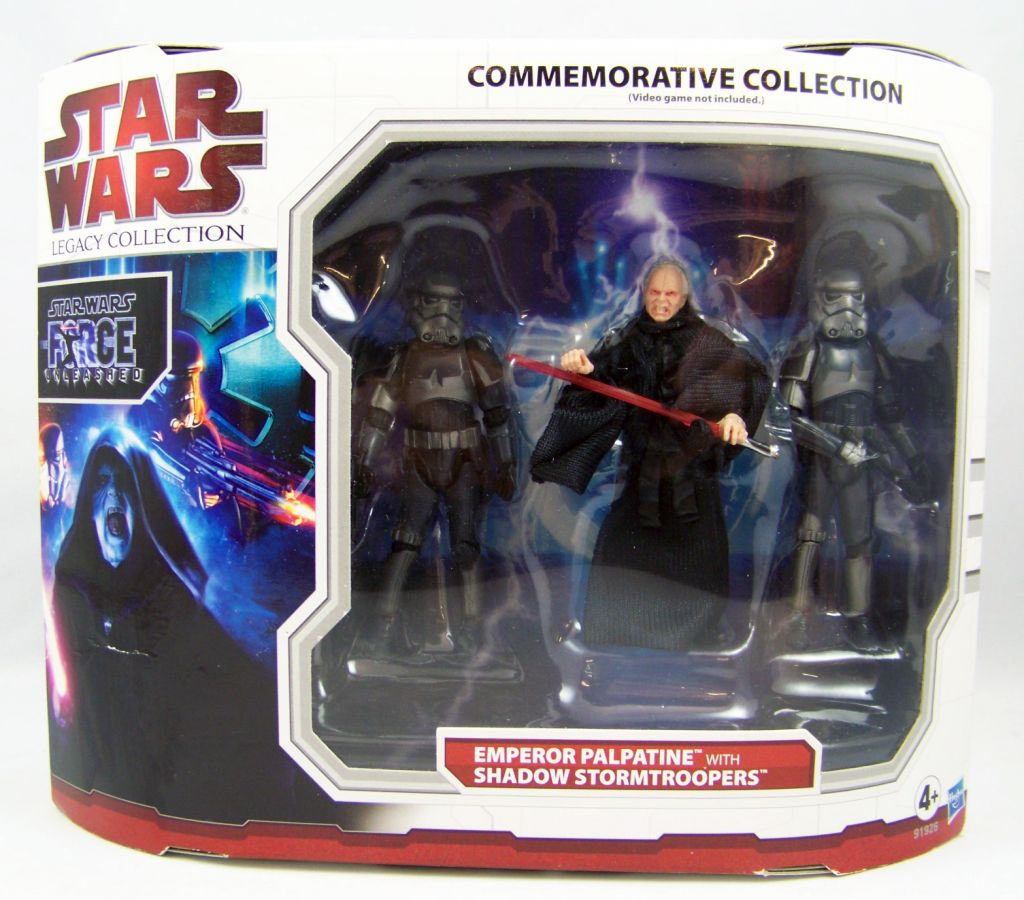 Star Wars (Legacy Collection) - Hasbro - Emperor Palpatine with Shadow Stormtroopers (Force Unleashed) Commemorative Collection