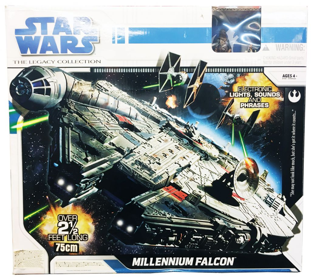 Star Wars (Legacy Collection) - Hasbro - Millennium Falcon (with Han Solo & Chewbacca)