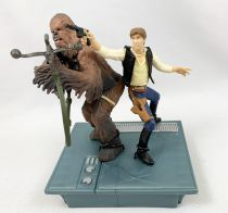 Star Wars (Loose) - Kenner/Hasbro - Han Solo & Chewbacca (Death Star Escape - 25th Anniversary)