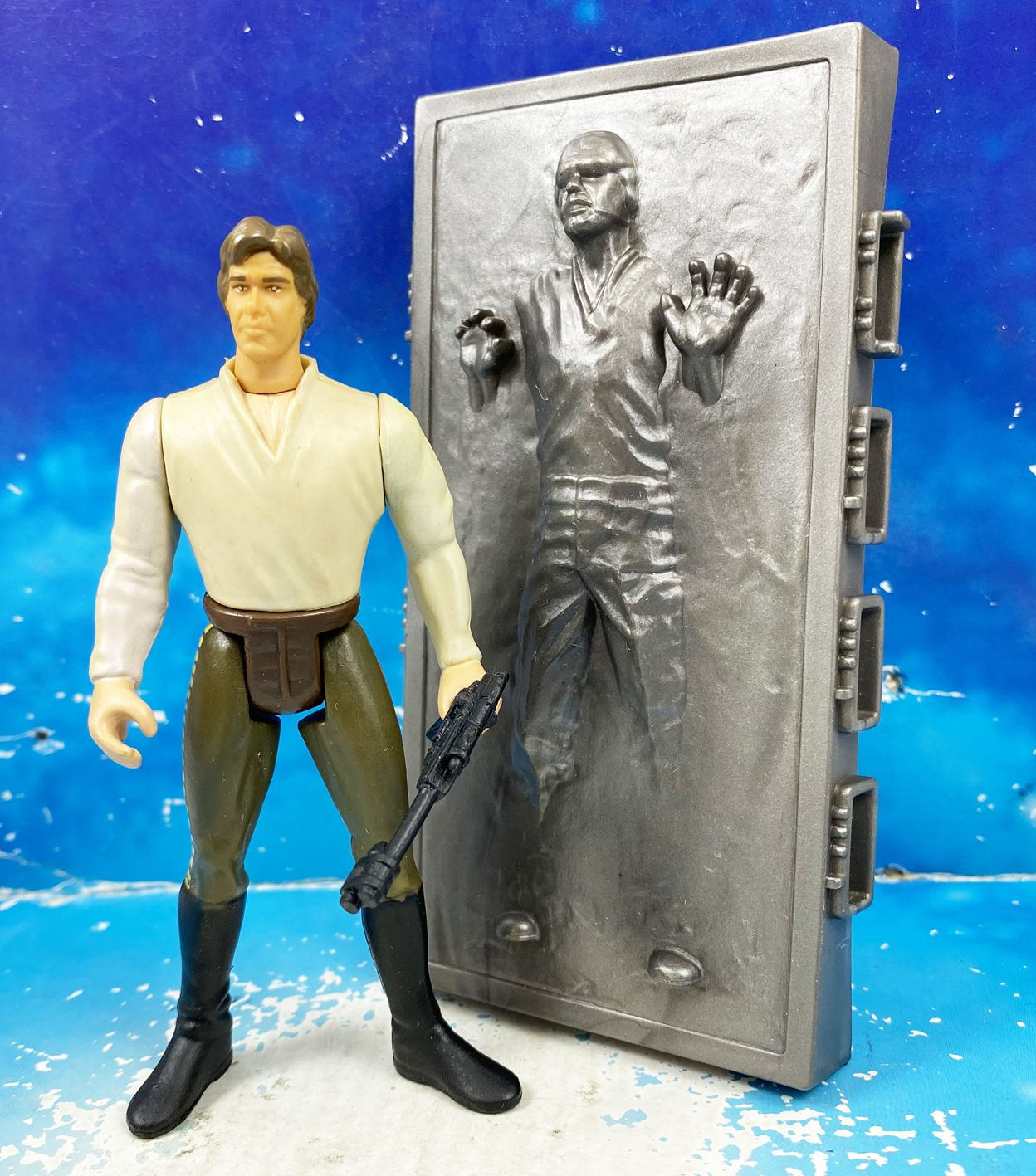 Star Wars (Loose) - Kenner/Hasbro - Han Solo (In Carbonite Block) POTF2