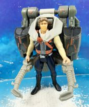 Star Wars (Loose) - Kenner/Hasbro - Han Solo w/Smuggler\'s Flight Pack (POTF2)