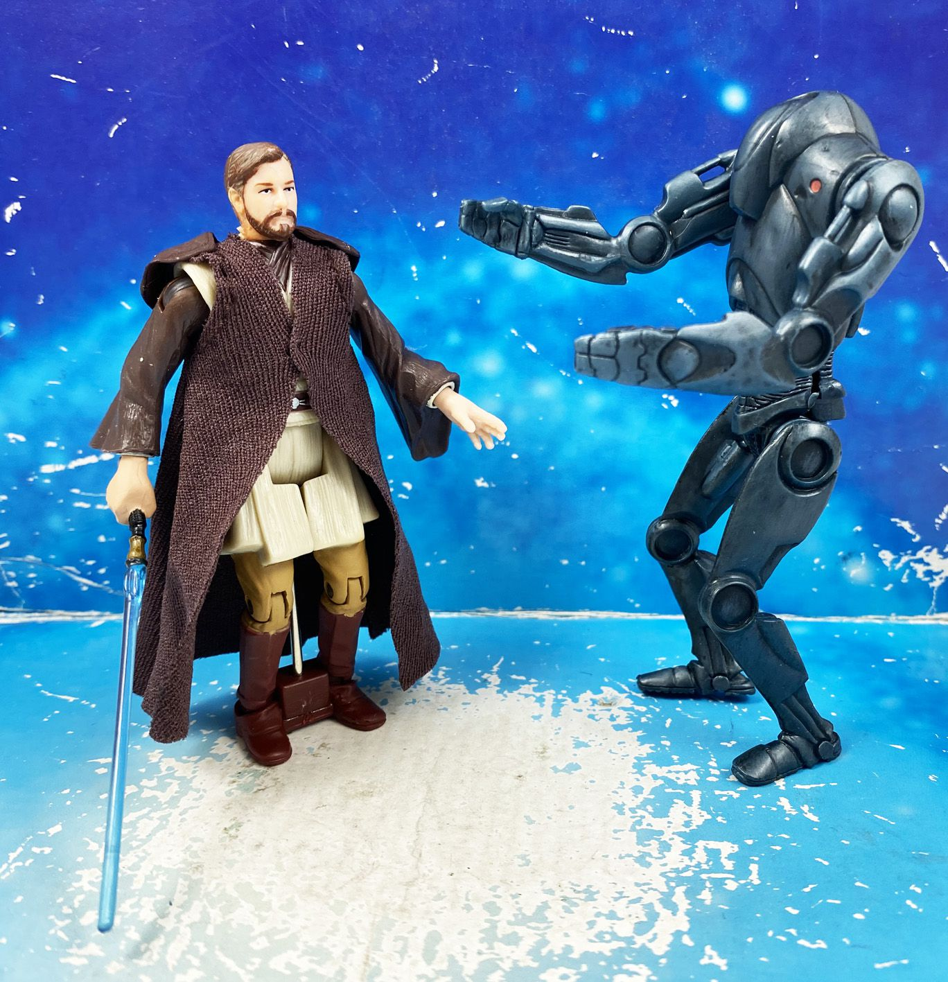 Star Wars (Loose) - Kenner/Hasbro - Obi-Wan Kenobi (Force Jump Attack!) ROTS
