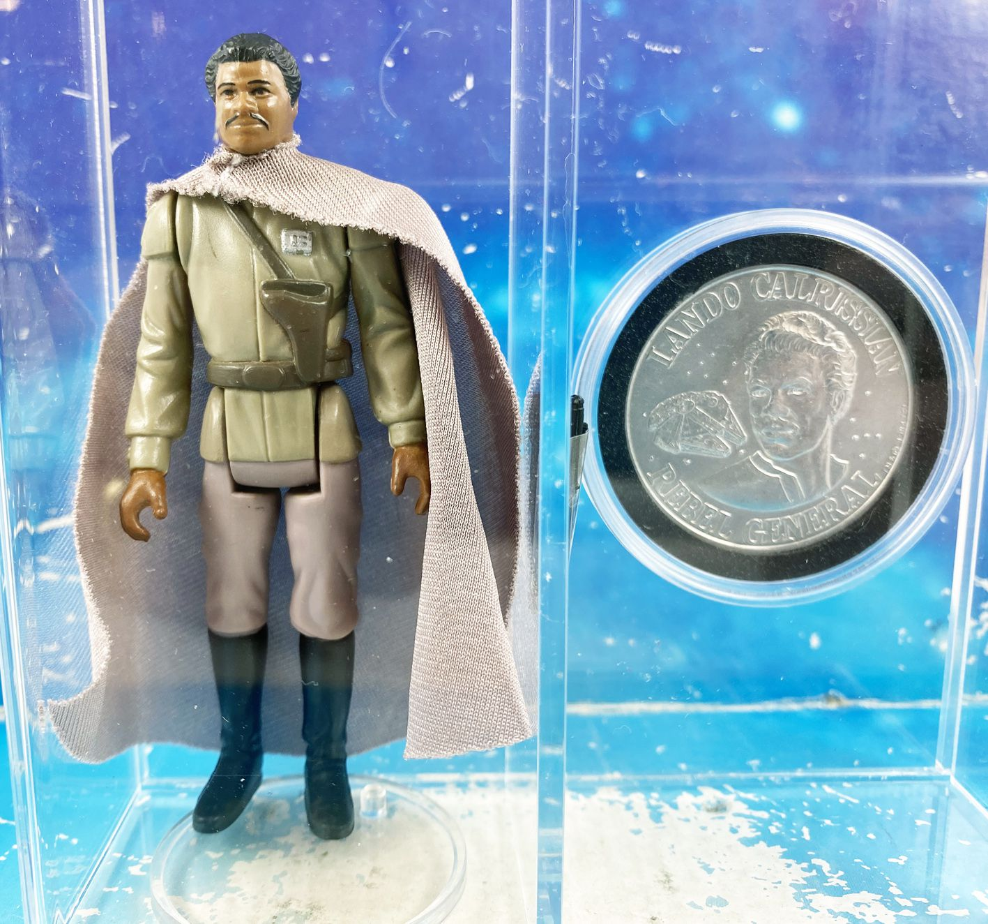 Star Wars (POTF) - Kenner - Lando Calrissian General Pilot w/Display Case