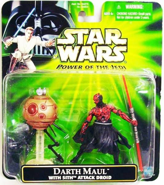 Star Wars (Power of the Jedi) - Hasbro - Darth Maul (with Sith Attack Droid)