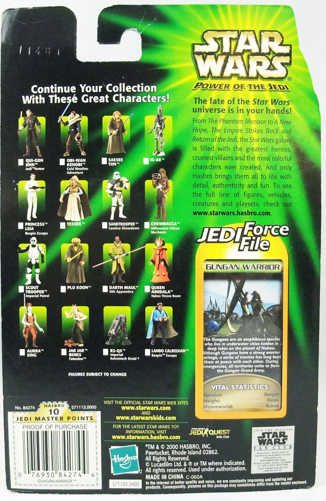 Star Wars (Power of the Jedi) - Hasbro - Gungan Warrior