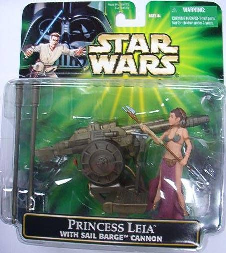 Star Wars (Power of the Jedi) - Hasbro - Leia w/ Sail Barge  Cannon