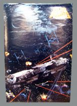 "Star Wars (Space Battle) - 24\""x36\"" (Portal Publications Ltd PTW651 1992)"