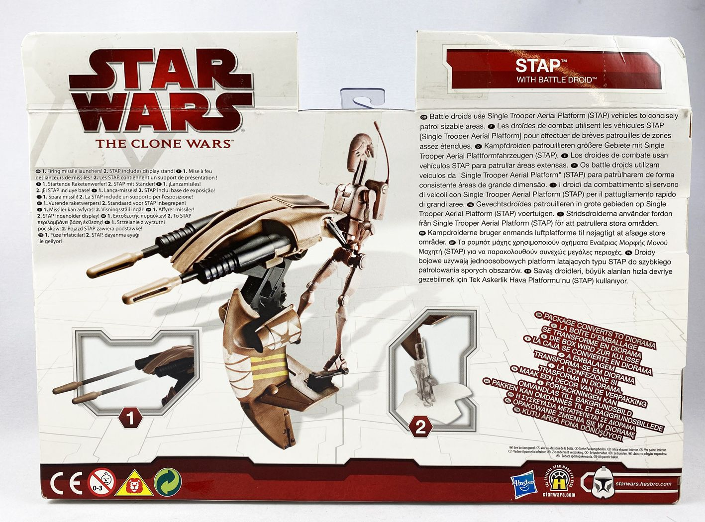 Star Wars (The Clone Wars) - Hasbro - STAP with Battle Droid