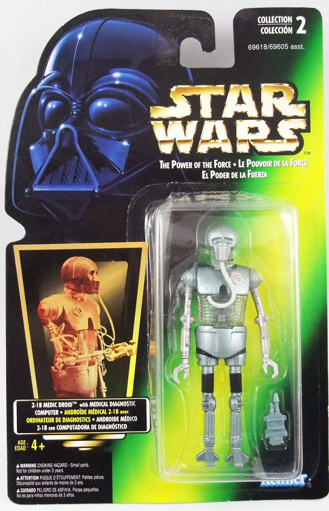 Star Wars (The Power of the Force) - Kenner - 2-1B Medical Droid