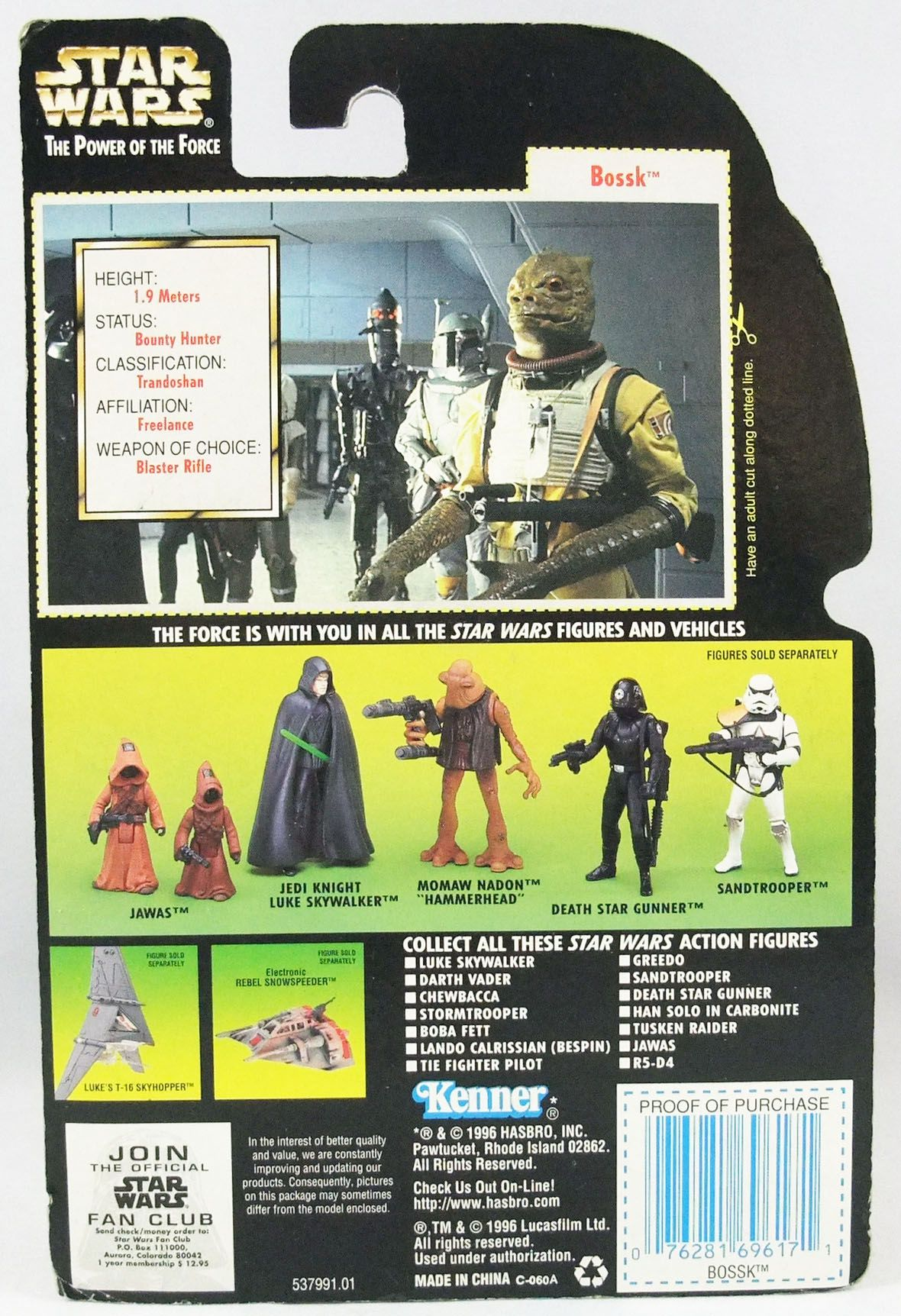 Star Wars (The Power of the Force) - Kenner - Bossk