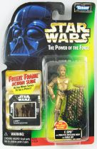 Star Wars (The Power of the Force) - Kenner - C-3PO (with Realistic Metalized Body)