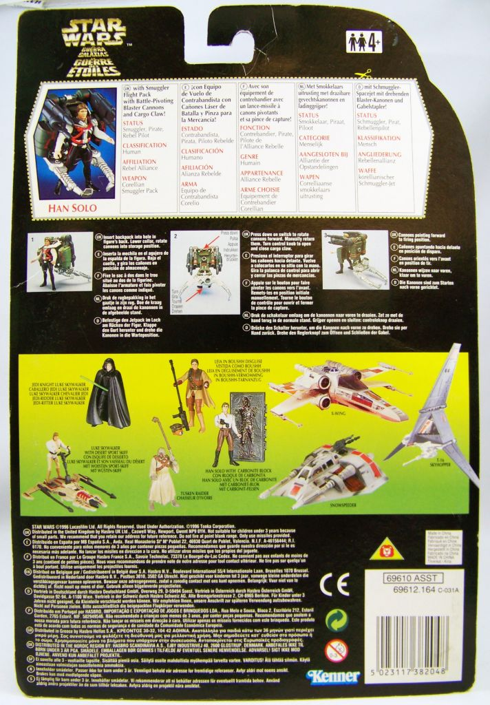 Star Wars (The Power of the Force) - Kenner - Han Solo (Deluxe) 02