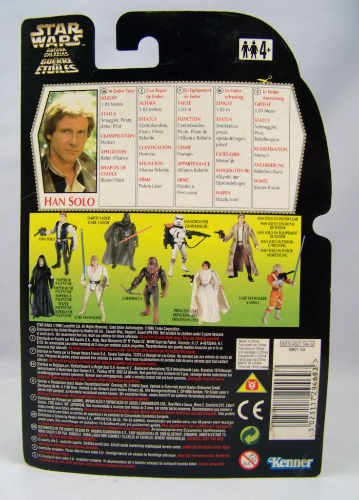 Star Wars (The Power of the Force) - Kenner - Han Solo (in Endor Gear) 02