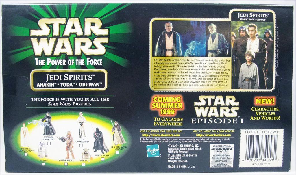Star Wars (The Power of the Force) - Kenner - Jedi Spirits : Anakin, Yoda, Obi-Wan