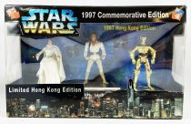 Star Wars (The Power of the Force) - Kenner - Leia, Luke & C-3PO (1997 Commemorative - Hong Kong exclusive)