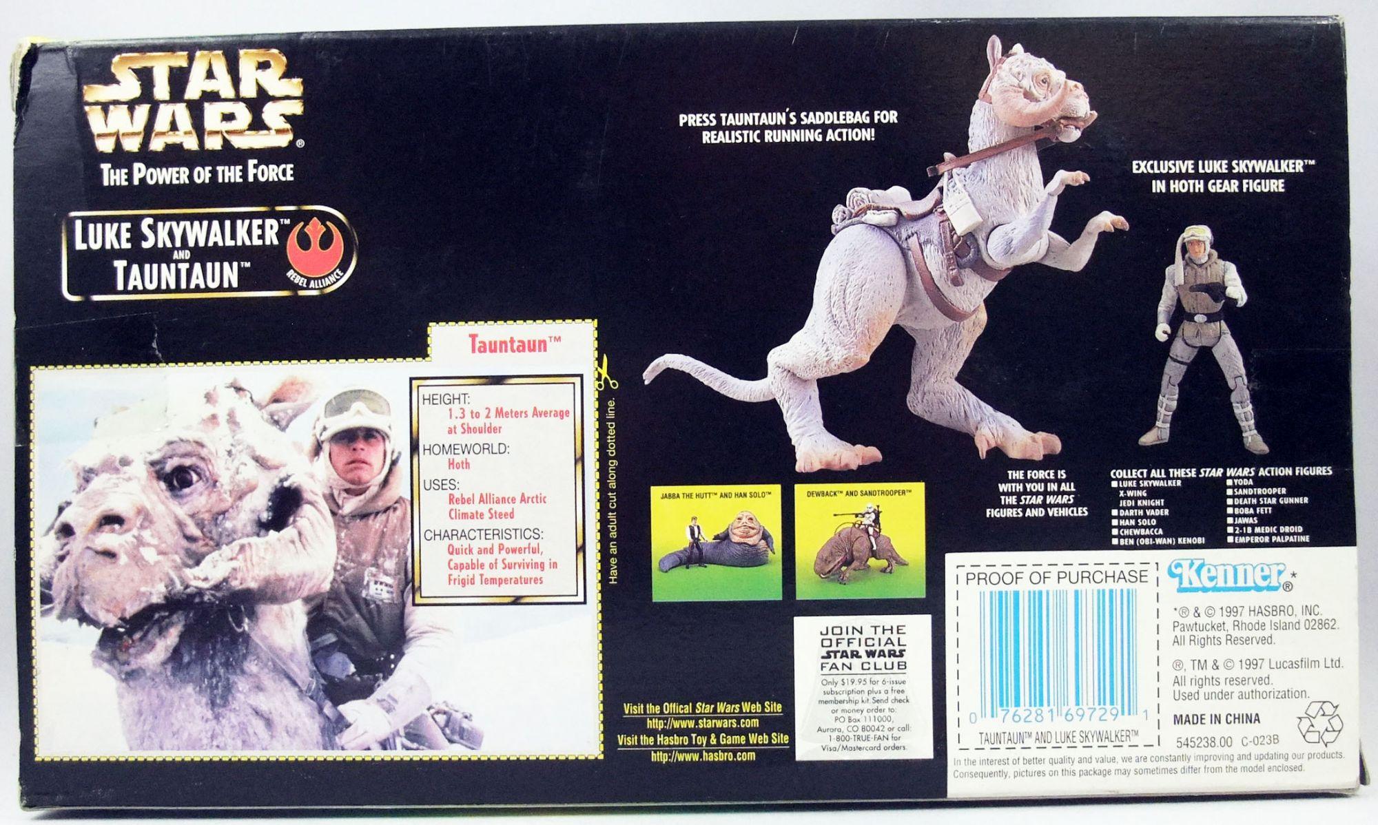 Star Wars (The Power of the Force) - Kenner - Luke Skywalker & Tauntaun